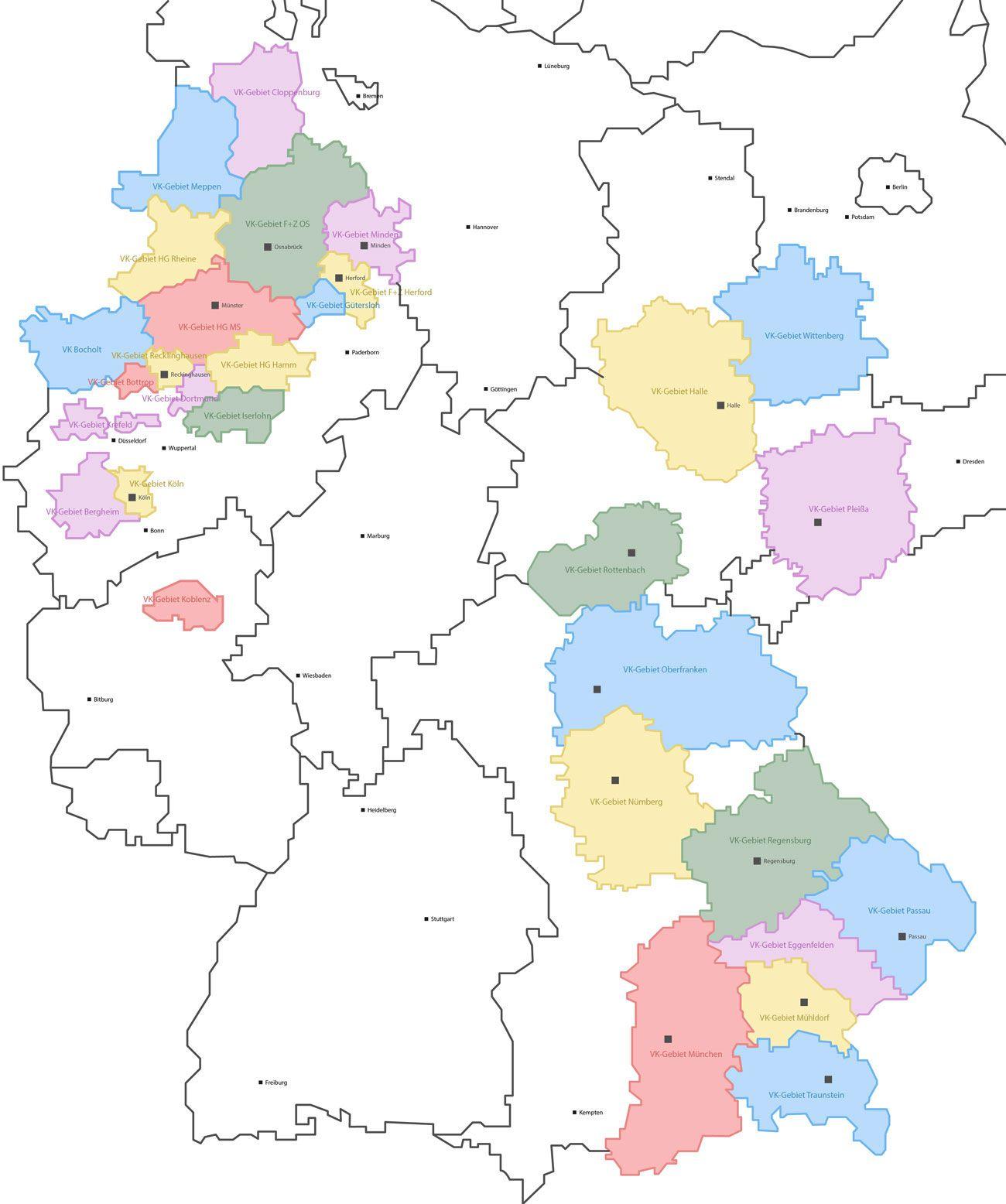 Unsere Gebiete H Gautzsch Bottrop B Denter Gmbh Co Kg
